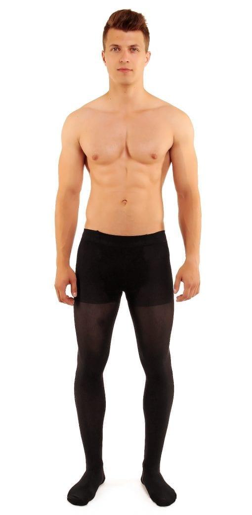 Men's Microman 100 tights 100 denier black front view full body