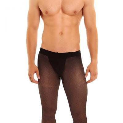 Men's Classic 20 tights 20 denier black front view full body