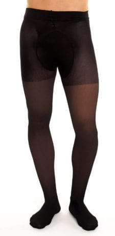 Men's Support 70 tights 70 denier black front view half body