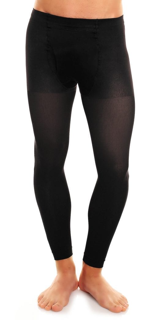 Men's Thermoman 100 footless tights 100 denier black front view lower body