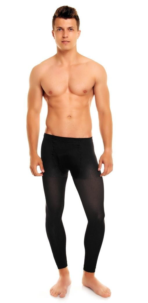 Men's Thermoman 100 footless tights 100 denier black front view full body