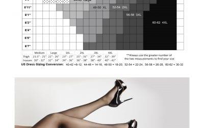 Glamory Plus Size Hosiery Sizing Guide
