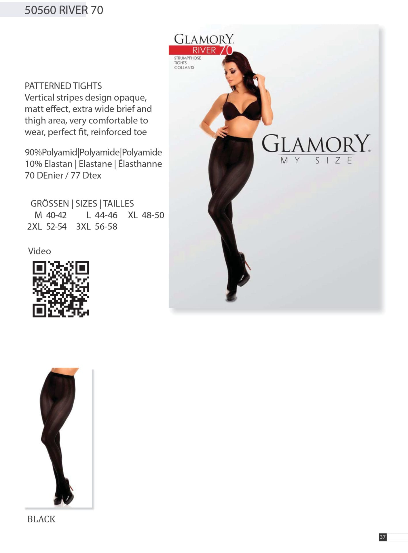 d21cf053029 GLAMORY Fit 50 Extra Wide Knee Socks plus Size G-50145 Holiday Gifts